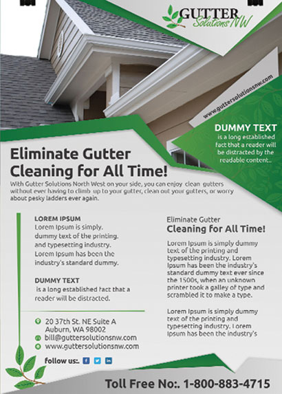 Gutter Solutions Flyer Design