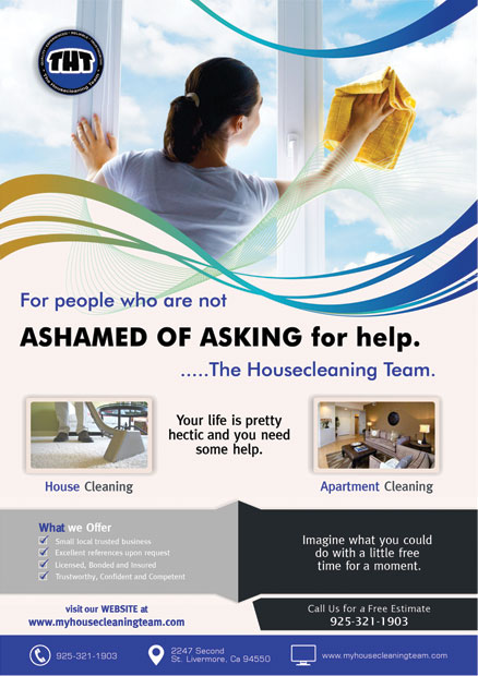 The House Cleaning Team Flyer Design
