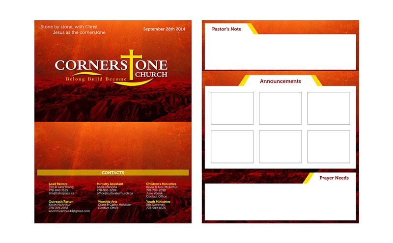 Cornerstone Card design