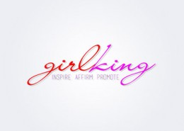 Girlking logo and branding