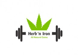 Herb'n Iron logo and branding