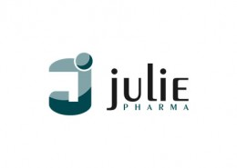 Julie Pharma logo and branding