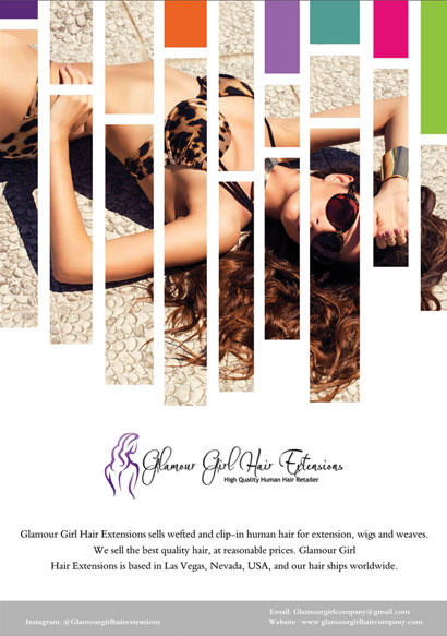 Glamour Girl Hair Extensions Flyer Design