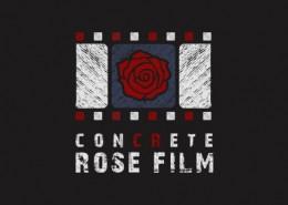 Concrete Rose Film logo and branding