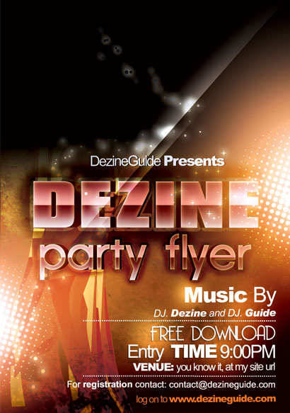 Dezine Party Flyer design and branding