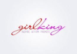 Girlking logo and branding