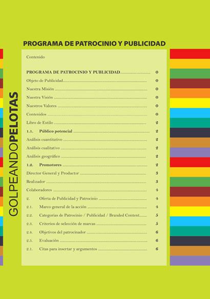 Golpeando Pelotas Magazine design