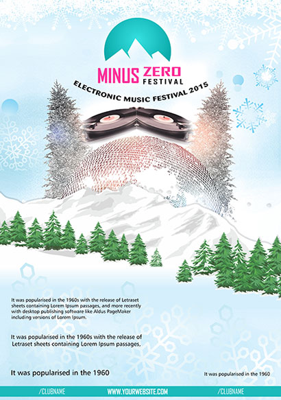 Minus Zero Festival Flyer design and branding
