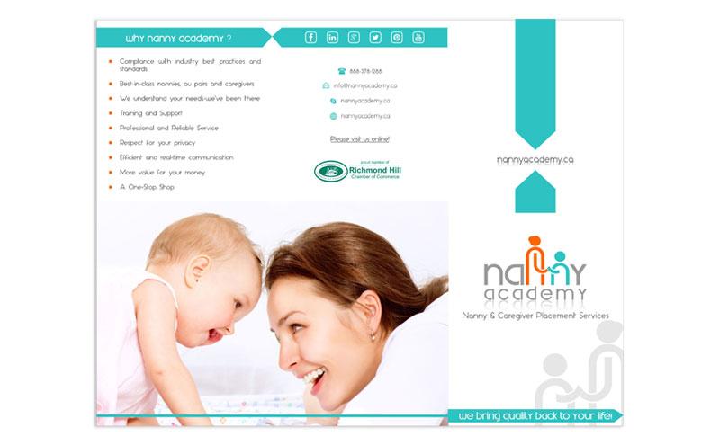 Nanny Academy Brochure design