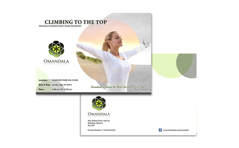 Omandala Brochure cover design