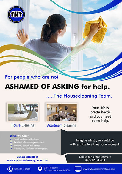 The House Cleaning Team Flyer design and branding